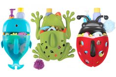 Make bath time fun with the Boon Frog Pod Deluxe Bath Scoop . In durable, bright green plastic, this fun froggy scoop will store dozens of bath toys. Bathtub Toy Storage, Bath Storage, Storage Baskets, Storage Ideas, Cute Frogs, Bath Toys, Mold And Mildew, Bath Accessories, Accessories Online