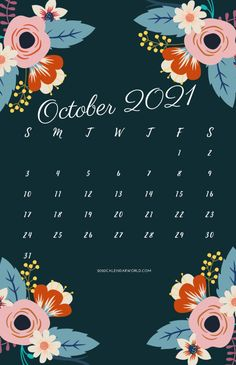 October 2021 Calendar Printable:- In this article, we are going to share with you the October month 2021 calendar with holidays, floral, and word or excel templates. So if you are being a student then these all calendars are helpful in your work or goals. We will be going through classes and be taught by teachers the different types of subjects or topics. That we are assigned to succeed and impart their knowledge. This does not comply to become a successful student or brilliant, but if you want October Calendar Printable, Holiday Calendar, October Wallpaper, Calendar Wallpaper, Calendar Board, 2021 Calendar, India Holidays, Floral Printables, Stuff To Do