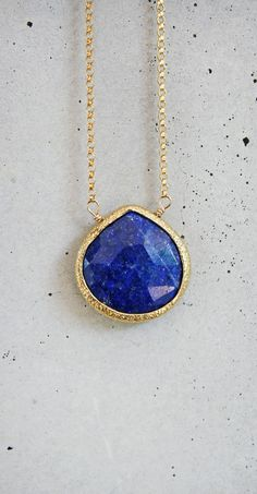 royal blue lapis lazuli necklace - just ordered the arrowhead and KNOW i'm going to need more layers :)