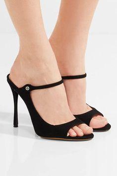 Tabitha Simmons - Isla Embellished Nubuck Sandals - Black - IT