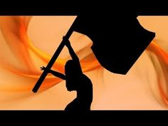 Flag Inverted 45 Toss: How to color guard - YouTube