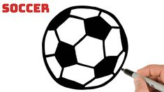 How to Draw a Soccer Ball Easy Easy Drawings For Beginners, Simple Art, Soccer Ball, Animal Drawings, Art Tutorials, Markers, Sharpies, Soccer, Marker