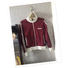 Vintage Adidas track jacket Good condition. Some staining. Should come out with laundering. Adidas Jackets & Coats