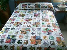 Mom is looking for a pattern or tutorial for double card trick quilt block. Only found this picture.