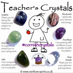Our set of tumbled stone crystals for teachers to say thank you or just give them a well deserved token of appreciation Crystals And Gemstones, Stones And Crystals, Gem Stones, Crystal Guide, Crystal Shop, Crystal Cluster, Crystal Meanings, Crystals And Their Meanings, Gemstones Meanings