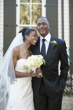 The bride and her proud father at The Inn at Palmetto Bluff, a Montage Resort. Photo by Ashley Seawell, via Southern Weddings Magazine. Wedding Designer: Sage M. Beecher.