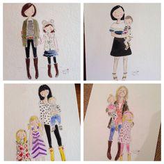 Custom watercolors - Jennifer Vallez