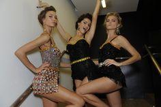 Spring 2012 Ready-to-Wear  Dolce & Gabbana- Backstage  Karlie, Isabeli & Maryna