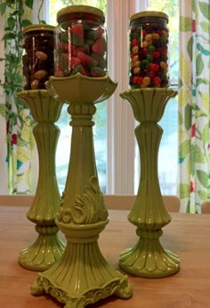 Frugal & Fun Candlestick Candy Holders | Hip2Save