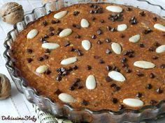 Torta di Ricotta e Cachi,ricetta con frutta secca