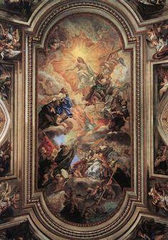 Apotheosis of the Franciscan Order 1707 Fresco Basilica Santi XII Apostoli, Rome Baroque Architecture, Sacred Architecture, Rennaissance Art, Renaissance Kunst, Chateau Medieval, Baroque Art, Baroque Painting, Ceiling Art, Art Sculpture