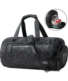 00ba41ccaf Sports Gym Bag Travel Duffel Backpack for Women and Men Overnight Travel Tote  Bag with Shoe Compartment - Camo - C0189HIQCHD