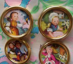 Nursery Rhyme Button LgSz Little Miss Muffett NR11 FREE US SHIPPING
