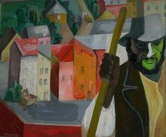 Maria Ewa Łunkiewicz-Rogoyska, Landscape with a French peasant on ArtStack #maria-ewa-lunkiewicz-rogoyska #art