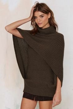 Nasty Gal So Over It Layered Cape Sweater | Shop Clothes at Nasty Gal!