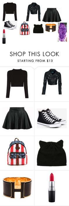 """""""nigth sky"""" by amberthearle on Polyvore featuring Converse, Hermès and MAC Cosmetics"""