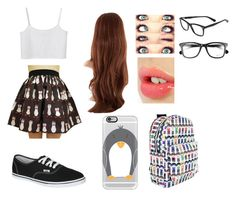 """""""Untitled #73"""" by jasmine-the-basic-penguin ❤ liked on Polyvore featuring Monki, Vans, Charlotte Tilbury, Ray-Ban and Casetify"""