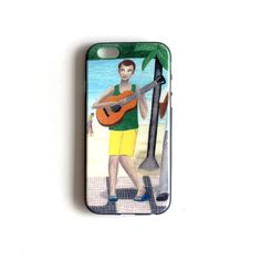 Guitarist illustration cell phone cover Soft TPU Gel by liatib
