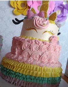 Curso gratis de manualidades de unicornio para fiestas de niñas paso a paso Unicorn Cakes, Birthday Cake, Desserts, Crafts, Food, Paper, Crafts To Make, 3d Pictures, Deserts