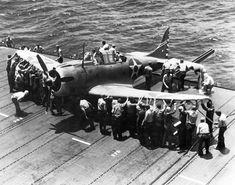 "Douglas SBD ""Dauntless"" aboard the USS Enterprise (CV-6) April 17, 1942"