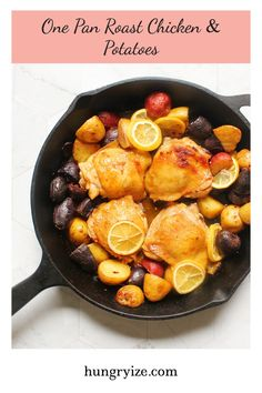 Looking for a delicious one pan wonder? Look no further! Try my one pan roast chicken and potatoes recipe for the perfect weeknight meal! Chicken Sandwich Recipes, Chicken Wing Recipes, Healthy Chicken Recipes, Potato Recipes, Roasted Chicken And Potatoes, Roast Chicken, Roasting Pan, Mediterranean Recipes, One Pot Meals