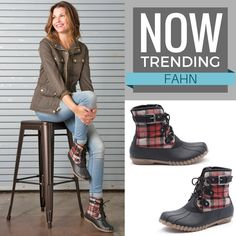 It's all about the duck boot! Water resistant, soft faux shearling lining and a super cute pattern come together flawlessly in the Fahn. Shop this boot at @DSW