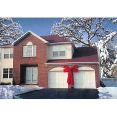 Huge Red Velvet Bow 6' x 9' Foot Xmas Gift House Garage Car Decoration Inoutdoor | eBay