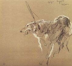 Cave to Canvas, Valentin Serov, Greyhound Royal Hunting, 1902 Animal Paintings, Animal Drawings, Art Drawings, Russian Art, Kandinsky, Dog Portraits, Dog Art, Les Oeuvres, Painting & Drawing