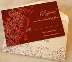Couture Wedding Invitations   Fully Customized  10 by PaperWeLove, $100.00