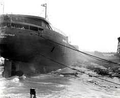 Great Lakes freighter the Edmund Fitzgerald, - which sank 37 years ago tomorrow… Whitefish Point, Edmund Fitzgerald, Great Lakes Ships, Lake Michigan, Wisconsin, Shipwreck, Lake Superior, Water Crafts, Lighthouse