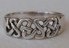 925 STERLING SILVER CELTIC BRAID RING in Jewelry & Watches   eBay