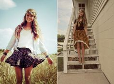 swingy skirts, loose waves are perfect for summer #fashion #style