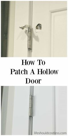 Home Remodeling Hacks How to patch a hollow door. Save yourself some cash by repairing instead of replacing your broken doors. Home Renovation, Home Remodeling, Bathroom Remodeling, Home Improvement Projects, Home Projects, Weekend Projects, Dyi, Home Fix, Diy Home Repair