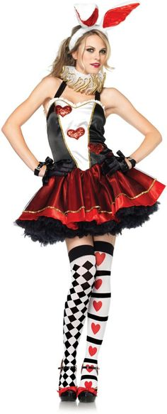 350e24aa5 This Party Bunny is ready for a new game! Tea Party Bunny Adult Alice Movie  Costume is a short halter dress