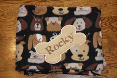 REVERSIBLE Pet Blanket Dog Blanket Fleece Custom Embroidered with Dog Name Puppy blanket Personalized pet blanket personalized dog blanket by RedBobbinDesigns on Etsy