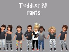 Designed toddlers pj shorts/pants Found in TSR Category 'Sims 4 Toddler Female'