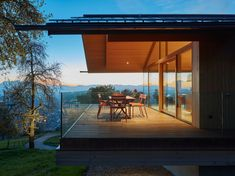 House D, Dornbirn Modern Residential Architecture, Plans Architecture, Architecture Design, Cafe House, My House, Cabins In The Woods, Glass House, House Rooms, Beautiful Homes