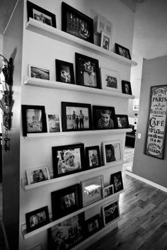 Picture wall. Did this in our bedroom and will do it in our basement! Love