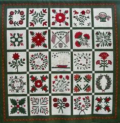 In 2007-2008 Baltimore Appliqué Society members created a reproduction of the Isaiah Mercier quilt from the collection of the Howard County Historical Society.   The patterns are available at The Applique Society, www.baltimoreapplique.com