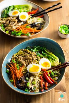 Top 6 Slimming World Breakfast Ideas - Syn Free Ramen Noodle Bowls Slimming World Dinners, Slimming World Breakfast, Slimming World Recipes, Baked Breakfast Recipes, Lunch Recipes, Cooking Recipes, Healthy Recipes, Cooking Ideas, Breakfast Ideas