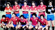 Spain team group in Real Madrid, Ghibli, 1980s, Movies, Movie Posters, Football, Group, Brazil, Soccer