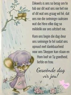 Evening Greetings, Good Morning Greetings, Good Morning Wishes, Good Morning Quotes, Lekker Dag, Afrikaanse Quotes, Goeie More, Good Morning World, Special Quotes