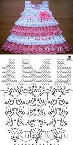 Captivating Crochet a Bodycon Dress Top Ideas. Dazzling Crochet a Bodycon Dress Top Ideas. Crochet Baby Dress Pattern, Baby Girl Crochet, Crochet Baby Clothes, Baby Knitting Patterns, Baby Patterns, Crochet Designs, Diy Crafts Knitting, Crochet Projects, Crochet Baby Dresses