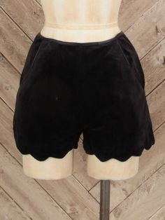 Smooth Velvet Scalloped Shorts at altardstate.com