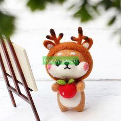 Where to buy Needle Felting Kits (2) Needle Felting Supplies, Starter Kit, Make It Yourself, Dolls, Christmas Ornaments, Holiday Decor, Stuff To Buy, Baby Dolls, Puppet