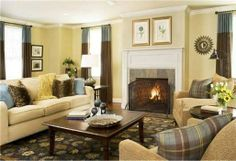 Amazing Living Room Color with Sunny Yellow Design Ideas 2