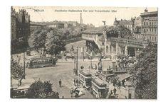 Berlin vintage postcard Hochbahn Hallesches door vintagepostoffice