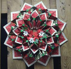 Christmas fold'n stitch wreath by CountryInspireCreate