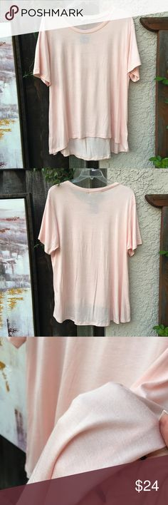 NEW! Super-soft Blush Pink Top NWOT! Awesome, soft short sleeve shirt NWT! C&C California Tops Tees - Short Sleeve