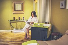 Relaxation Room at Myddfai Spa at Stradey Park Hotel, Llanelli, South Wales